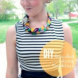 No-Sew Braided Scarf Necklace | Stuff to Make/Try | Pinterest