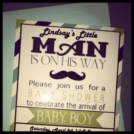 little man baby shower invitations customize on the computer and