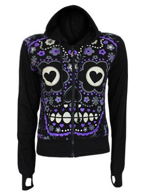 Sugar Skull Hoodie | Dream Closet | Pinterest