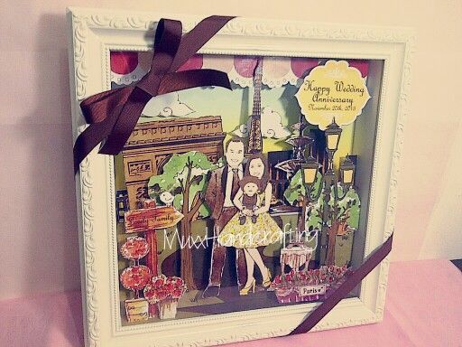 Wedding Anniversary Gift, Paris Theme