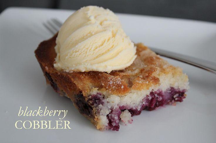 Blackberry Cobbler. Made tonight. It's the closet recipe I have found ...