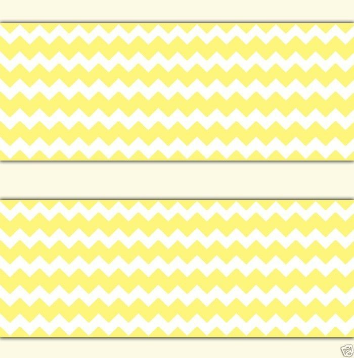 yellow chevron wallpaper border wall decal baby girl boy