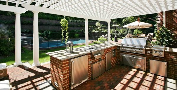 An outdoor kitchen on a budget outdoor living pinterest for Outdoor kitchens on a budget