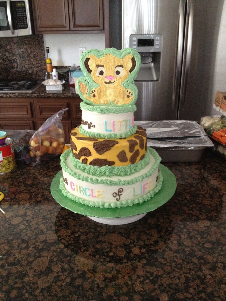 baby simba baby shower cake super cute cake baby shower