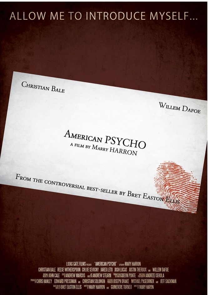 American Psycho Business Card Template