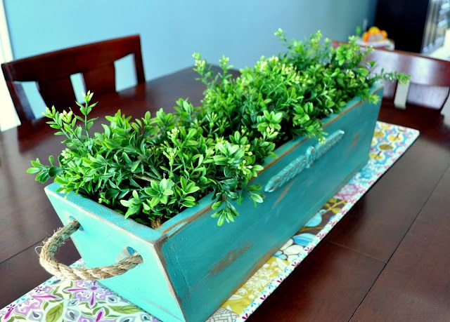 {10 fabulous planter ideas}This would be awesome with some great sage, lavender or any other flavor for the house. . Mint would smell great
