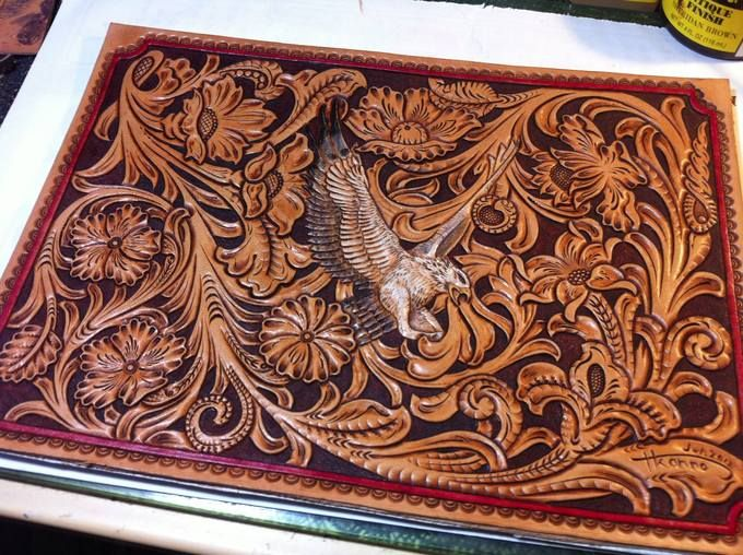 Carved leather patterns pinterest