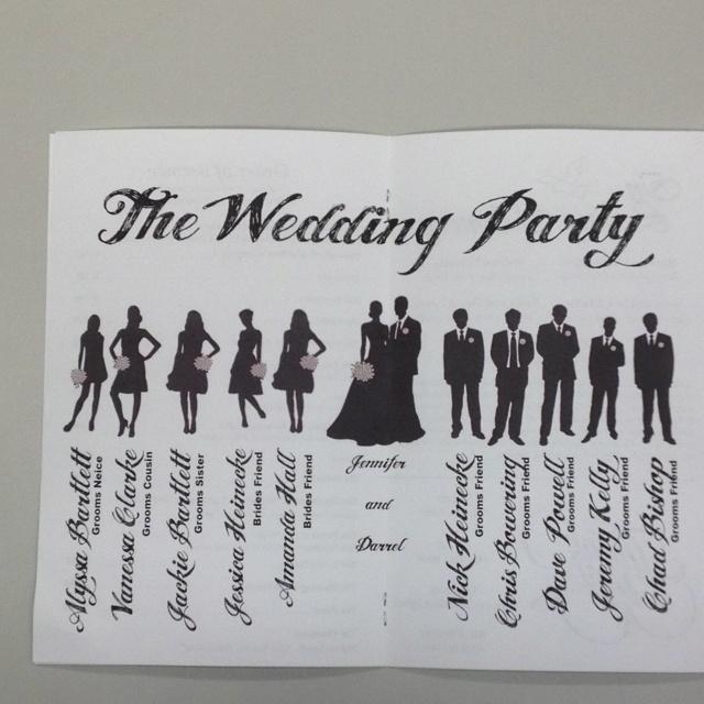 Wedding Church Program Wedding Pinterest