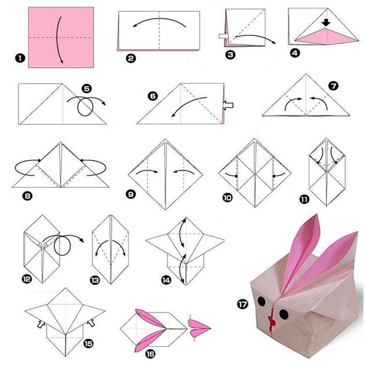 Bunny origami easter ideas pinterest for Net making instructions
