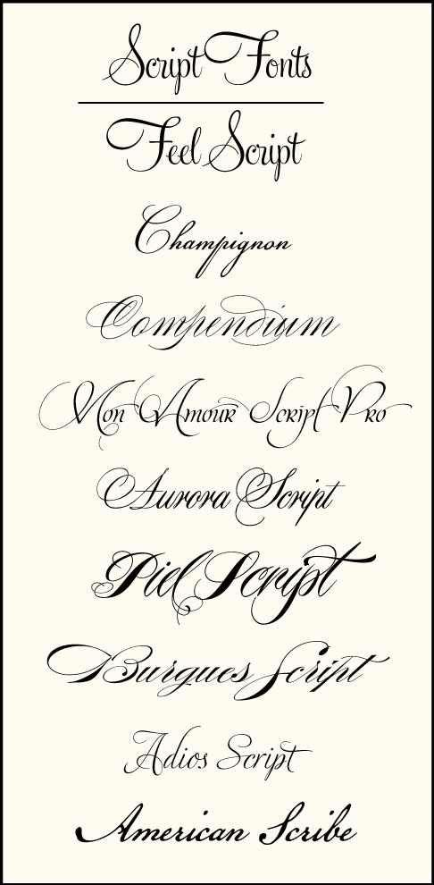 Tattoo Fonts Script Cursive Ideas I N K