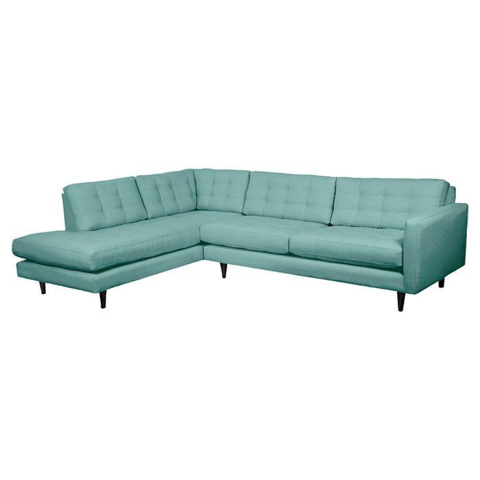 Gorgeous aqua retro sofa my little box of jewels pinterest for Aqua chaise lounge