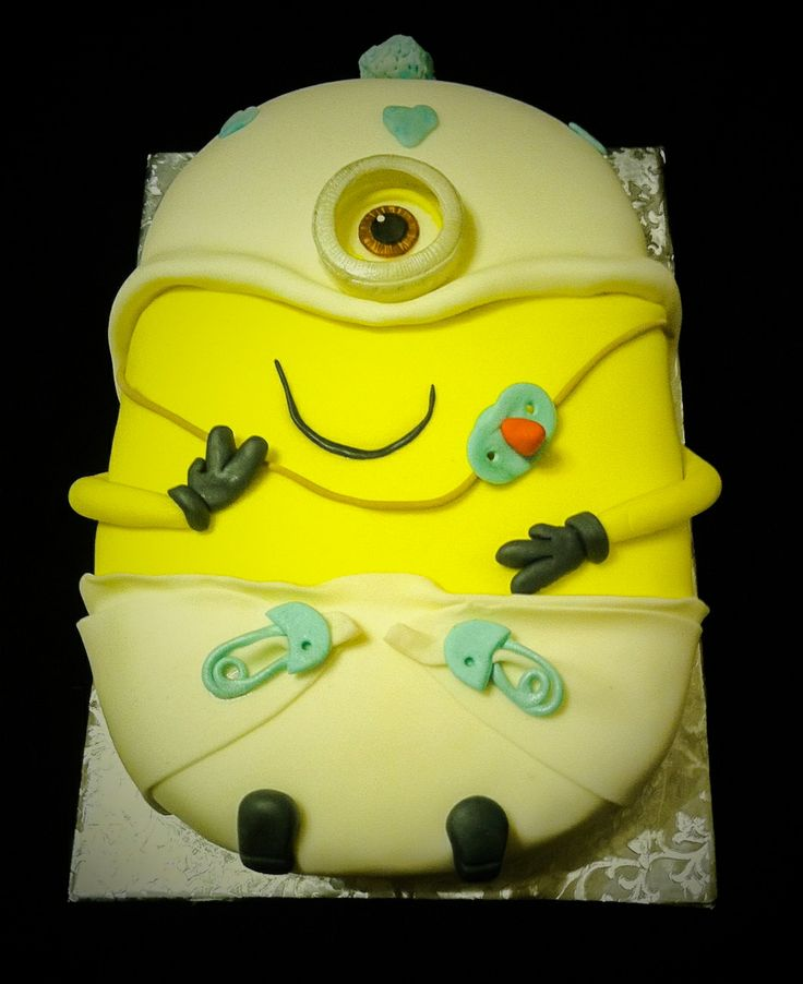 despicable baby minion cake birthday cake pinterest