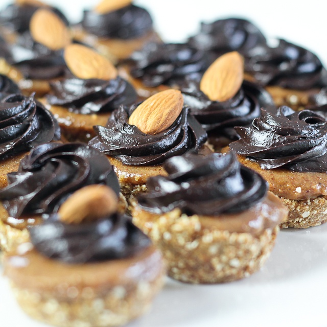 Teeny Weeny Chocolate Ginger and Almond Butter Cups | Recipe