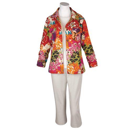Flower Garden Jacket Women 39 S Fashion Pinterest