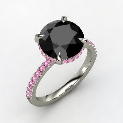 black pink ring jewelry and storage