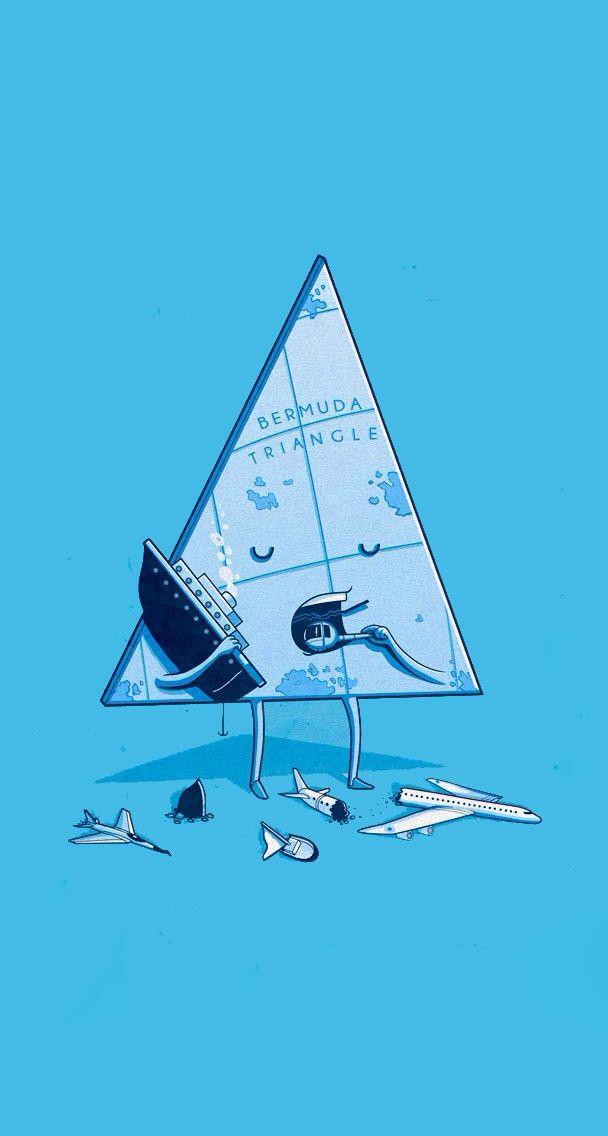 Bermuda triangle. Sleep walking/eating | Cute cartoon/drawings | Pint ...