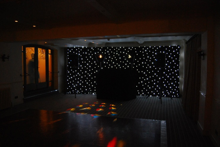 Black led starcloth, to hide the back wall which client wasn't too ...