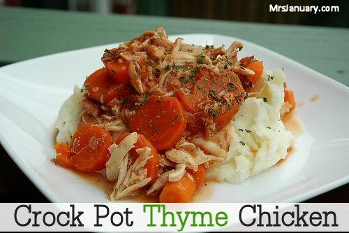 Crock Pot Thyme Chicken | Crockpot | Pinterest