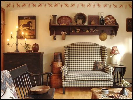Love The Loveseat And Shelf Another Primitive Look Look At The Old