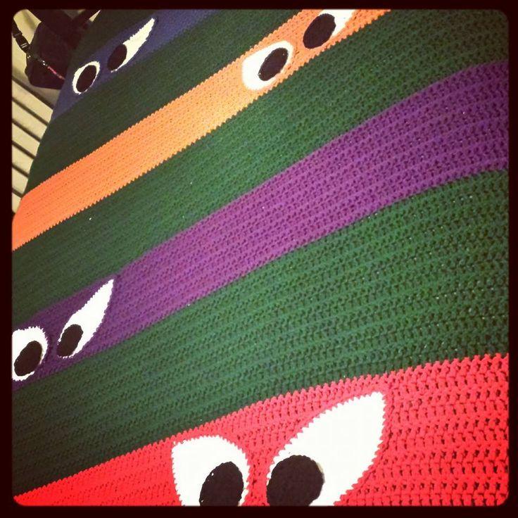 Crochet Pattern For Ninja Turtle Blanket : tmnt afghan hooked on blankets Pinterest