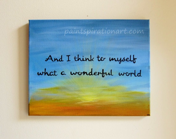 inspirational quote original canvas painting 11x14 and i
