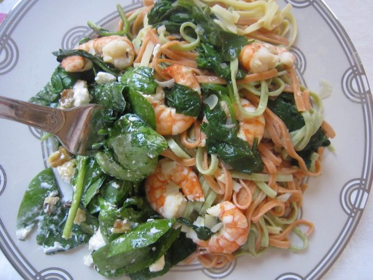 pasta with saffron shrimp and peas | food glorious food | Pinterest