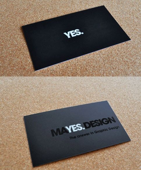 yes minimal business cards Business Cards