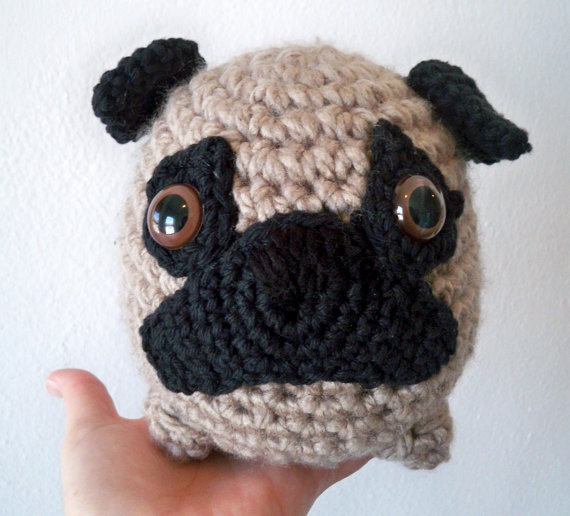 Amigurumi Perro Pug : Fat Crochet Pug Crafts & Tutorials Pinterest