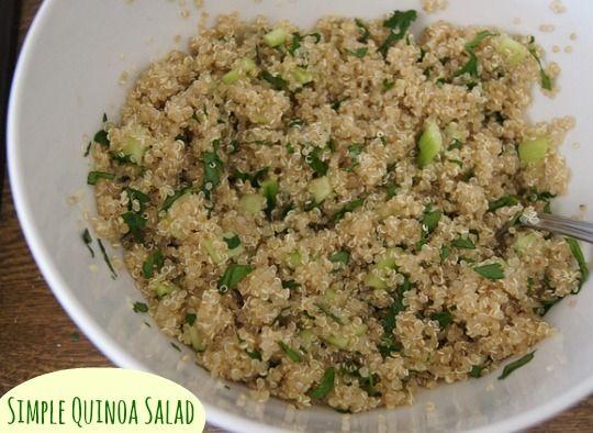 simple quinoa salad main