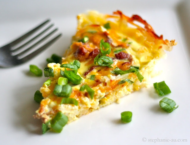 Hash Brown Crusted Quiche | Mouth-watering | Pinterest