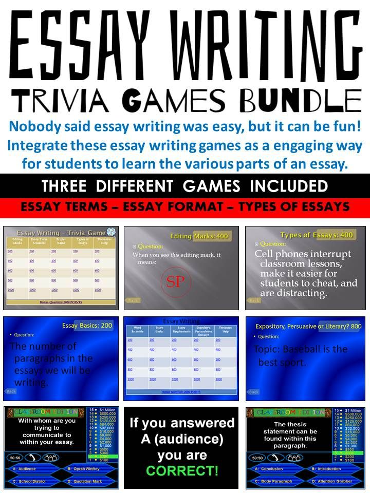 writing essays games Writing activities young learners building their literary skills will benefit from both group and individual writing activities a writing game  activity.