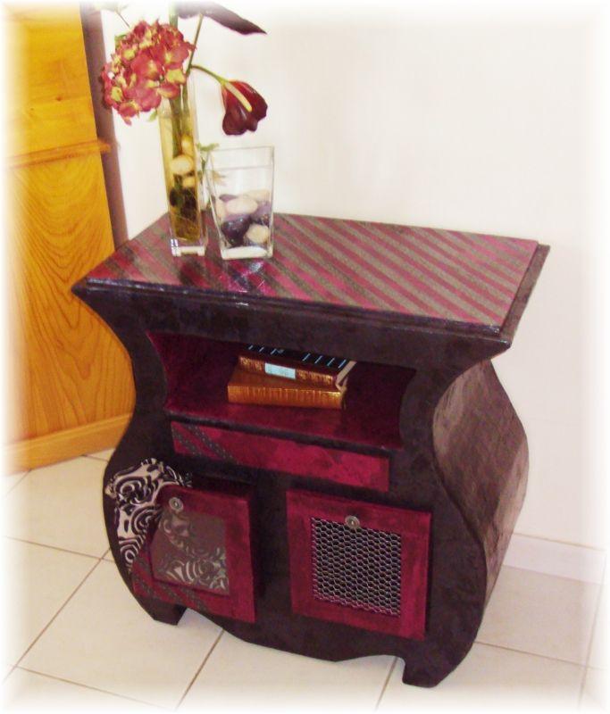 Meuble baroque meuble en carton pinterest for Meuble baroque