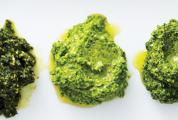 Mint-Pistachio Pesto Recipe — Dishmaps