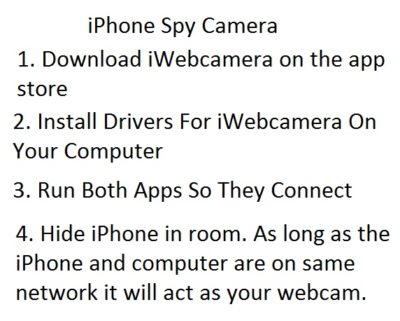 iphone as spy cam