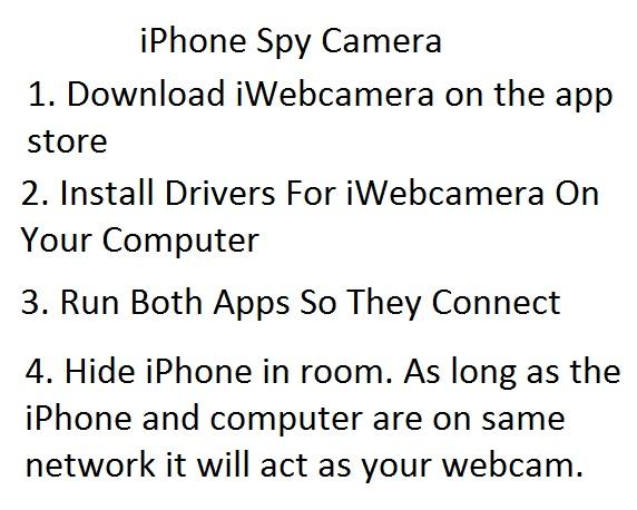 iphone as spy cam