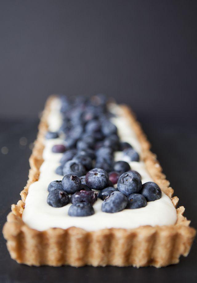 Lemon Cream & Blueberry Tart | A Piece of cake | Pinterest