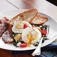 Poached Eggs with Spinach & Ricotta Recipe