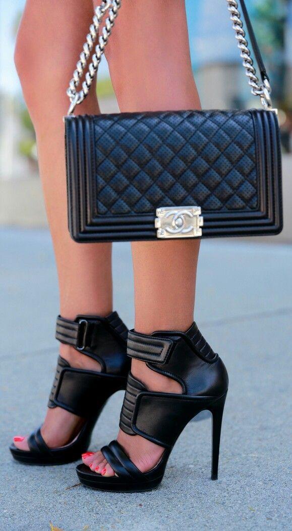 Leather Biker Sandals AND Flap Bag