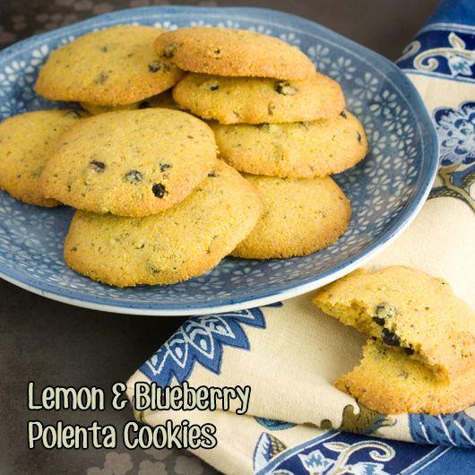 Om Nom Ally - Lemon & Blueberry Polenta Cookies Made with polenta ...