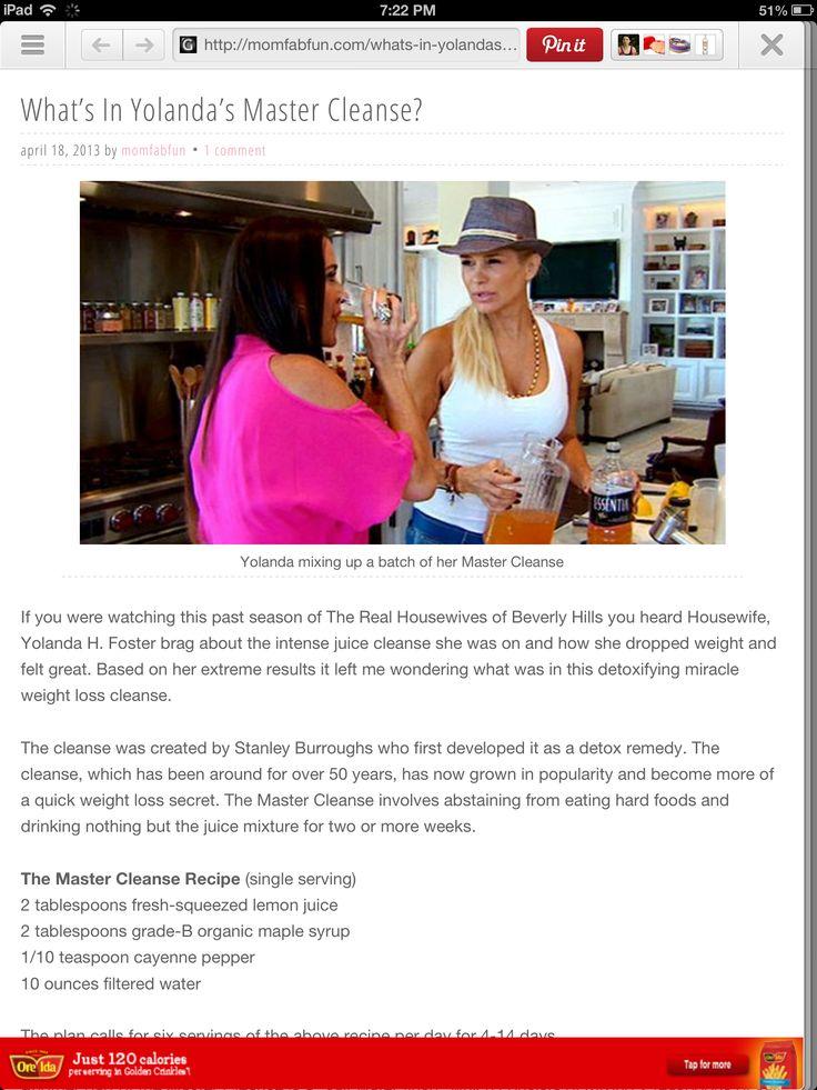 What Is Yolanda Fosters Lemon Master Cleanse | Rachael Edwards
