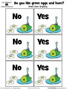 Dr. Seuss Green Eggs and Ham Graphing Printable {free printable}