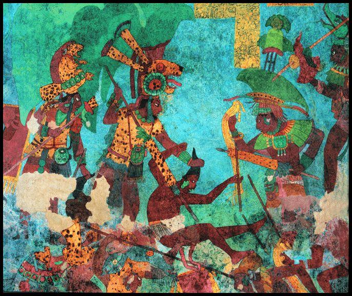 mural de bonampak inspire pinterest