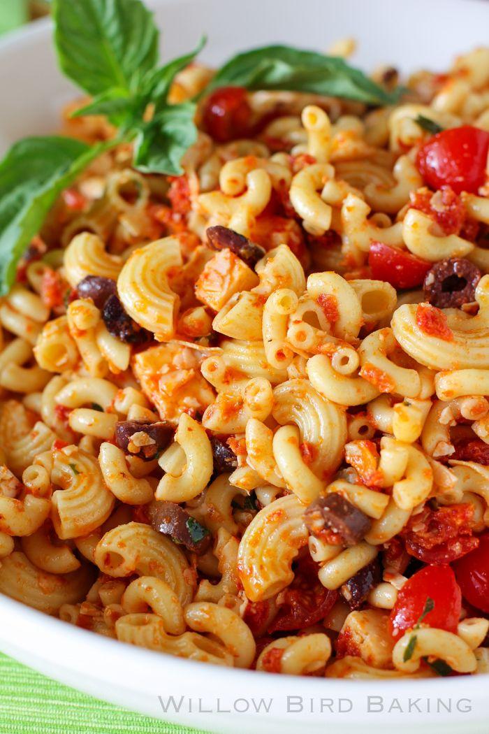 ... Macaroni Salad Ever & Sundried Tomato Pasta Salad - Willow Bird Baking