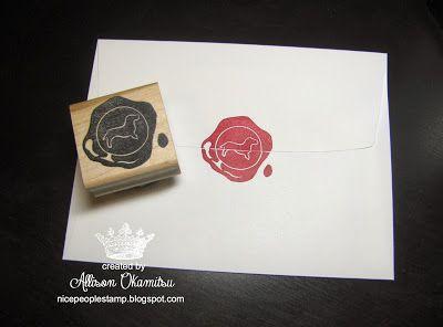 Dachshund Wax Seal Hand Carved Stamp by Allison Okamitsu
