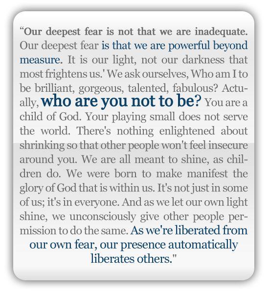 Nelson Mandela, 1994  Words I live by!!!!!!