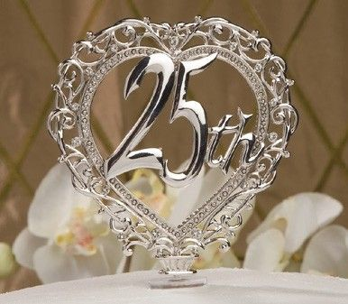 Cake Designs For Silver Jubilee : Pin by Kristi Kristi on 25 year/special occasion ideas ...
