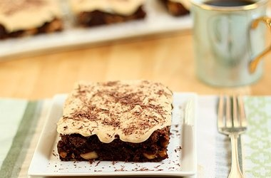 Brownies with Bourbon Caramel Frosting Recipes. #Recipes
