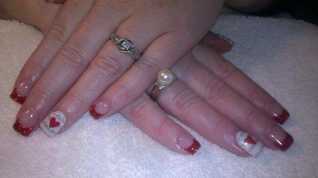 pinterest valentine gel nails