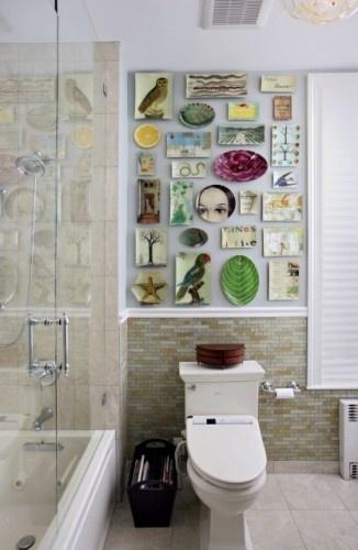 Как украсить туалетную комнату своими руками