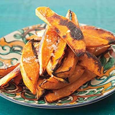 Easy Peasy Roasted Cinnamon Sweet Potato Fries: Toss 2lbs potatoes ...